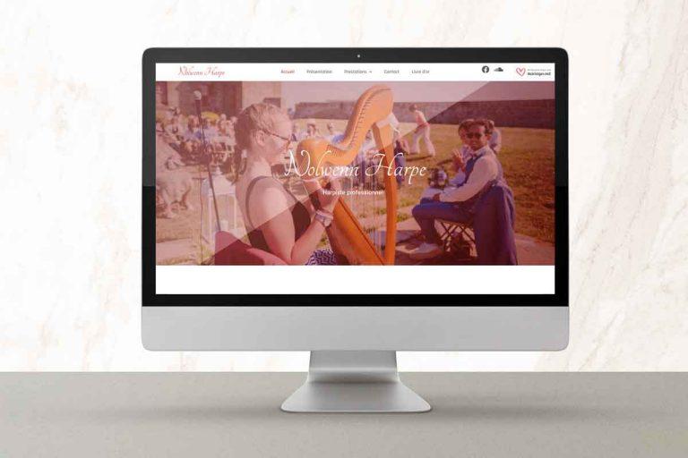 site internet Nolwenn Harpe fait par fanch' fuselier